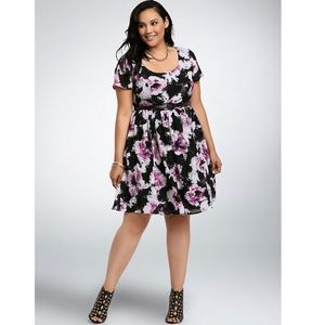 Torrid Abstract Print Fit And Flare Dress 20